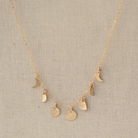 Gold Filled Moon Phases Necklace- Crescent Necklace