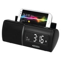 JENSEN® JBD-100 Bluetooth Clock Radio - Black