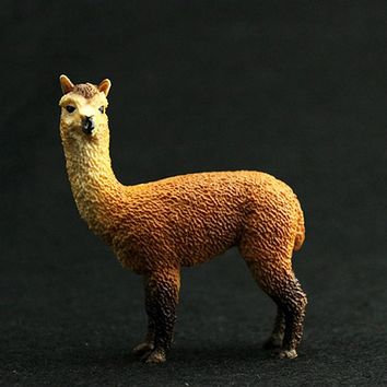 Animals Toy Alpaca Static Model Plastic Action Figures Educational Toys Gift for Kids Cartoon Decoration