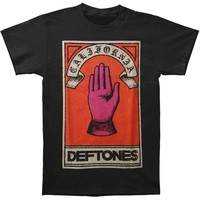 Deftones Men's  Hand T-shirt Black