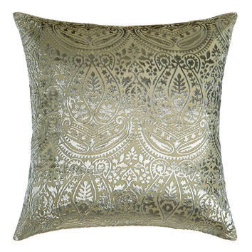 "Grazia Burnout Velvet Pillow, 20""Sq. - Amity Home"