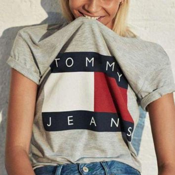 PEAPJ1A Tommy hilfiger tommy men and women's classic t-shirts