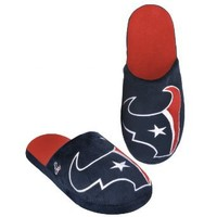 NFL Houston Texans 2011 Big Logo Slide Slipper Hard Sole Medium