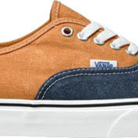 Vans Authentic-(Washed Two Tone)Peacoat/Gold Ochre