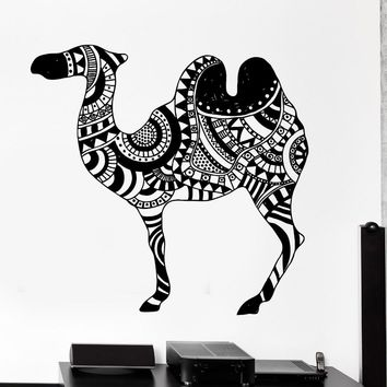Plus size Removable PVC Home Decor Yoga Decal Wall stickers Animal Camel Desert Cool Tribal Ornament Mural Vinyl Decal D243