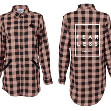 Black & Latte Fearless Flannel Shirt