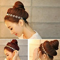 Rose Flower Elastic Hair Band