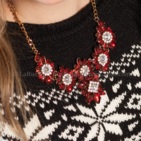 MERRY AND BRIGHT NECKLACE IN RED