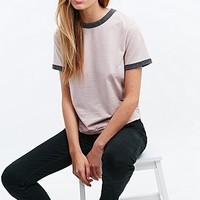 Cooperative Marl Ringer Tee in Rose - Urban Outfitters