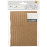 American Crafts: 8 Swiss Dot Embossed Brown Blank Kraft Paper A2 Cards and Envelopes