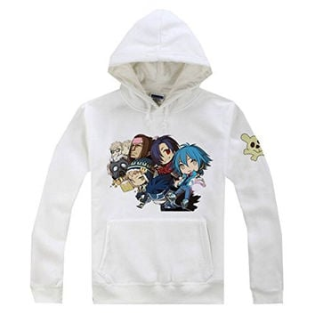 AnimeTown Dramatical Murder DMMD Members Anime Long Sleeves Hat Hoodie (L, White)