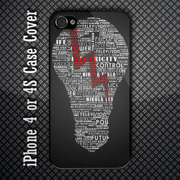 Unique Lamp Electricity Custom iPhone 4 or 4S Case Cover