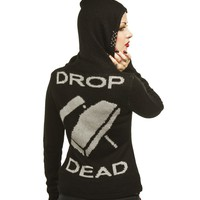 Drop Dead Mohair Hoodie :: VampireFreaks Store :: Gothic Clothing, Cyber-goth, punk, metal, alternative, rave, freak fashions