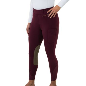 Noble Outfitters Ladies Knee Patch Balance Riding Tight - Fig