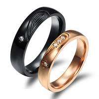 Gift Stylish Jewelry New Arrival Shiny Couple Accessory Korean Ring [11676769039]