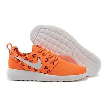 NIKE Roshe WMNS Orange Leopard Running Sport Casual Sneakers Shoes