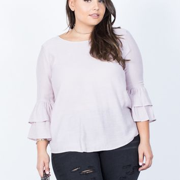 Plus Size Katelyn Ruffled Blouse