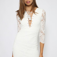 Tough Enough Dress - White