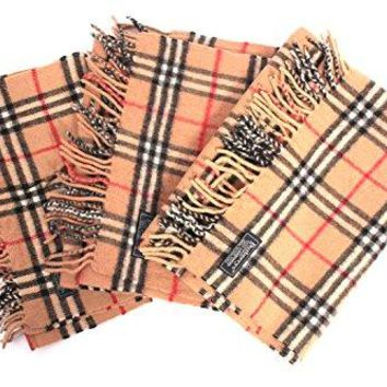 BURBERRY Scarf Vintage Classic Nova Check Scarf 100% Lambswool