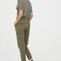Lyocell Cargo Pants - from H&M