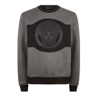 Neoprene Two-Tone Black and Grey Sweatshirt