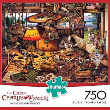 Charles Wysocki 750-pc. Max in the Adirondacks Panoramic Puzzle