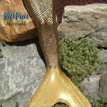 Mermaid Tail in Golden Mermaid by Fin Fun Mermaid Tails-Tail comes with Fin 1f225f9179