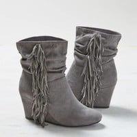 AEO FRINGED WEDGE BOOTIE