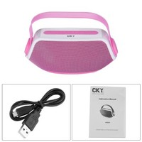 CKY Portable Bluetooth Rechargeable BoomBox Speaker Handle for Tablets / Smartphones/ Music players/ Other Bluetooth Wireless or 3.5 mm Audio Sources Pink