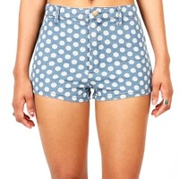 Betty Dot High Waist Shorts | Denim Shorts at Pink Ice