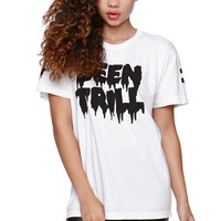 Been Trill Drip Crew T-Shirt - Womens Tee - White - Large