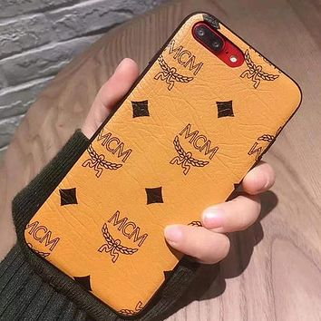 Perfect MCM Fashion iPhone Phone Cover Case For iphone 6 6s 6plus 6s-plus 7 7plus 8 8plus X