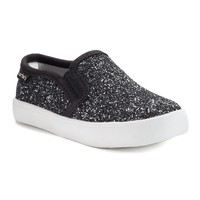 Carter's Tween 2 Toddler Girls' Glitter Casual Slip-On Shoes (Black)