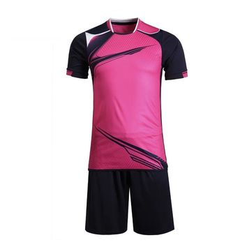 Custom team Men and women women soccer uniforms Training football Jerseys shirts 2017 Sports Wear Breathable Running kit