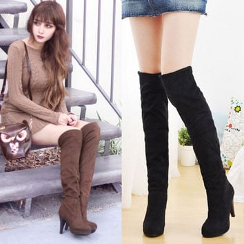 Women's Shoes Stretchy High Heels Boots