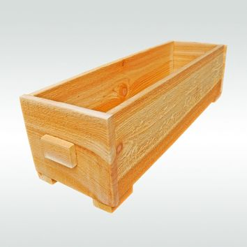 Fairy Herb Garden Cedar Wooden Window Wood Planter Flower Box Pot Gift for Gardener Gift