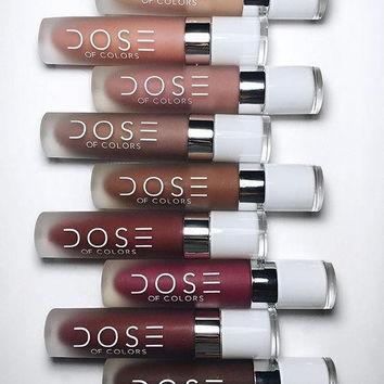 12 colours Dose of colors lipstick lip gloss SOC Matte Lip lipstick DOSE