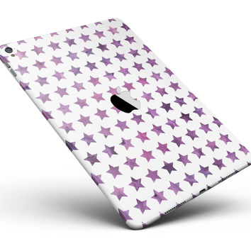 "The Purple Grunge All Over Stars Full Body Skin for the iPad Pro (12.9"" or 9.7"" available)"