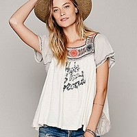 We The Free Womens We The Free Ana's Graphic Tee - Ivory Combo, S