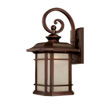 Acclaim Lighting 8122ABZ Somerset Architectural Bronze Large 22-Inch Wall Lantern with Frosted Clear Seeded Glass
