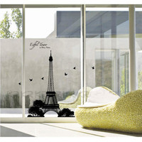 Eiffel Tower Silhouette Wall Decal at AllPosters.com
