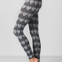 Glendale Heathered Heart Leggings