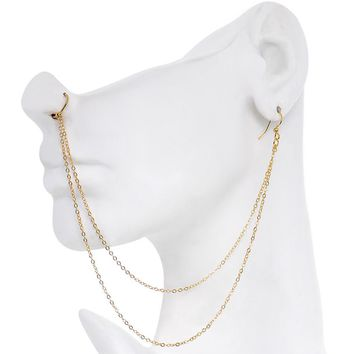 """Handcrafted Pirate Booty Gold Plated Ear to Nose Chain 20 Gauge 5/16"""""""