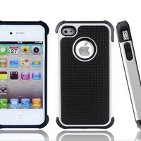3-Layer Shell Gel Double Cover Case for Apple iPhone 4 and 4S SG