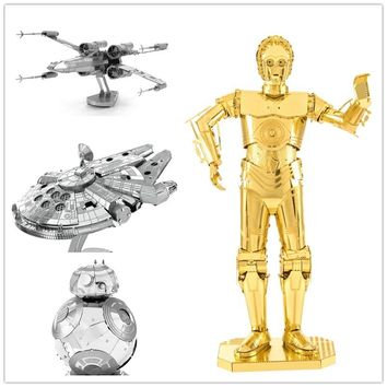 Star Wars 3D Metal assembling PUZZLE Collection of ornaments for Children's gift