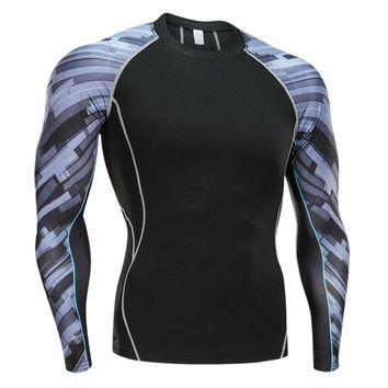 2017 18 Comfortable Men Compression Running Sports Male Hormones Long Sleeve Tight Shirts Fitness GYM Base Layer Cozy Tops Sexy