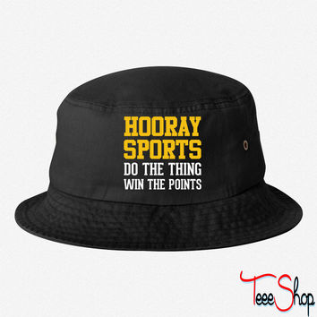 Hooray Sports (Yellow) bucket hat
