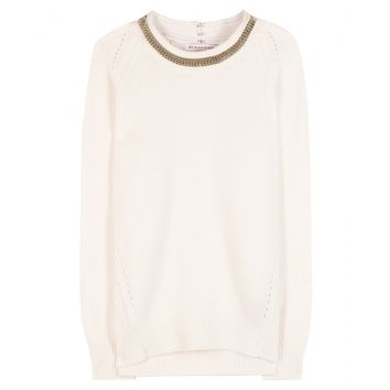 burberry london - embellished wool and cashmere sweater