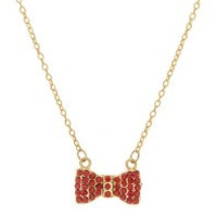 Dazzling Bow Necklace