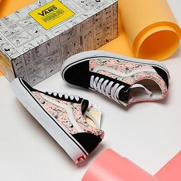 DCCKBWS Vans X Peanuts Snoopy Canvas Old Skool Flats Shoes Sneakers Sport Shoes